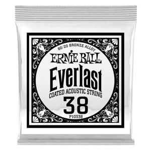 .038 Everlast Coated 80/20 Bronze Akustik-Gitarrensaite 6er Pack Thumb