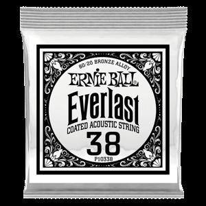 .038 Everlast 镀膜黄铜木吉他琴弦6 支装 Thumb