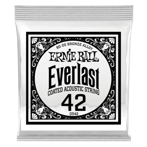 .042 Everlast Coated 80/20 Bronze Akustik-Gitarrensaite 6er Pack Thumb