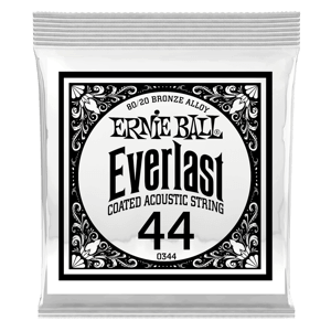.044 Everlast Coated 80/20 Bronze Acoustic Guitar Strings 6 Pack Thumb