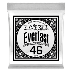 .046 Everlast Coated 80/20 Bronze Acoustic Guitar Strings 6 Pack Thumb