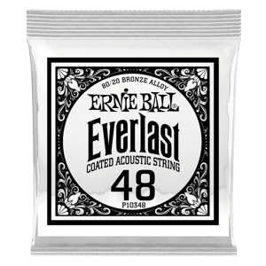.048 Everlast Coated 80/20 Bronze Acoustic Guitar Strings 6 Pack Thumb