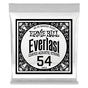 .054 Everlast Coated 80/20 Bronze Acoustic Guitar String Thumb