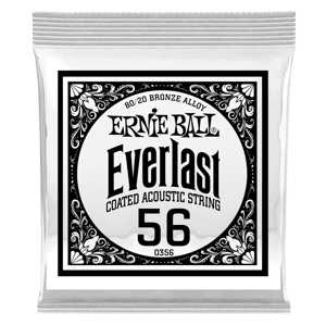 .056 Everlast Coated 80/20 Bronze Acoustic Guitar Strings 6 Pack Thumb