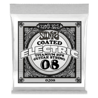 .008 Slinky Coated Titanium Reinforced Plain Electric Guitar Strings 6 Pack Thumb