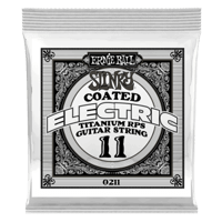.011 Slinky Coated Titanium Reinforced Plain Electric Guitar Strings 6 Pack Thumb