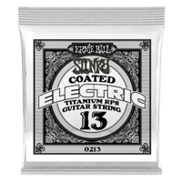 .013 Slinky Coated Titanium Reinforced Plain Electric Guitar Strings 6 Pack Thumb