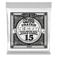 .015 Slinky Coated Titanium Reinforced Plain Electric Guitar Strings 6 Pack Thumb