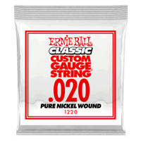 .020 Classic Pure Nickel Wound Electric Guitar Strings 6 Pack Thumb