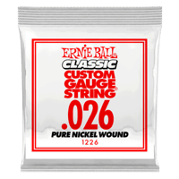 .026 Classic Pure Nickel Wound Electric Guitar Strings 6 Pack Thumb