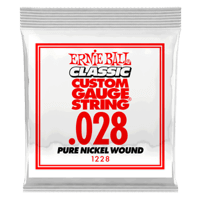 Pack com 06 Cordas para Guitarr Classic Pure Nickel Wound .028 Thumb