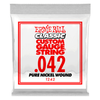 .042 Classic Pure Nickel Wound Electric Guitar Strings 6 Pack Thumb