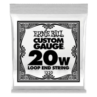 .020 Loop End Stainless Steel Wound Banjo or Mandolin Guitar Strings 6 Pack Thumb
