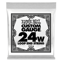 .024 Loop End Stainless Steel Wound Banjo or Mandolin Guitar Strings 6 Pack Thumb