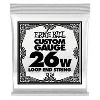 .026 Loop End Stainless Steel Wound Banjo- oder Mandolinensaite 6er Pack Thumb