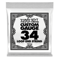 .034 Loop End Stainless Steel Wound Banjo or Mandolin Guitar Strings 6 Pack Thumb