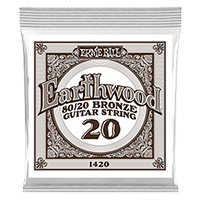.020 Earthwood 80/20 Bronze Corde pour Guitare Folk au détail Thumb