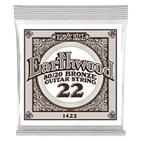 .022 Earthwood 80/20 Bronze Acoustic Guitar Strings 6 Pack Thumb