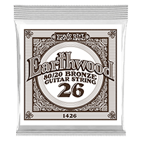 .026 Earthwood 80/20 Bronze Corde pour Guitare Folk au détail Thumb