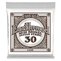 .030 Earthwood 80/20 Bronze Acoustic Guitar Strings 6 Pack Thumb