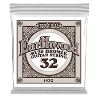 .032 Earthwood 80/20 Bronze Acoustic Guitar Strings 6 Pack Thumb