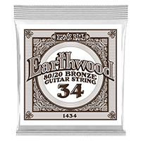 .034 Earthwood 80/20 Bronze Acoustic Guitar Strings 6 Pack Thumb