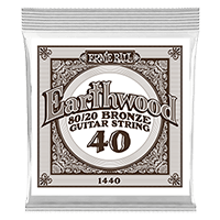 .040 Earthwood 80/20 Bronze Corde pour Guitare Folk au détail Thumb