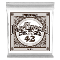 .042 Earthwood 80/20 Bronze Acoustic Guitar Strings 6 Pack Thumb