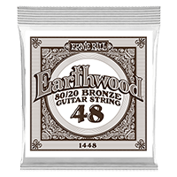 .048 Earthwood 80/20 Bronze Corde pour Guitare Folk au détail Thumb