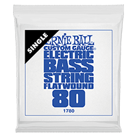 .080 Flatwound Electric Bass String Single Thumb