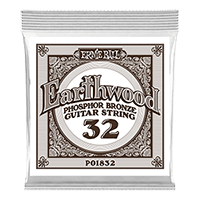 .032 Earthwood Phosphor Bronze Acoustic Guitar Strings 6 Pack Thumb