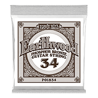 .034 Earthwood Phosphor Bronze Acoustic Guitar Strings 6 Pack Thumb