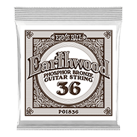 .036 Earthwood Phosphor Bronze Acoustic Guitar Strings 6 Pack Thumb