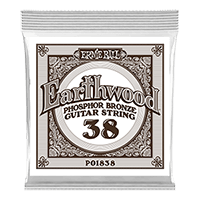 .038 Earthwood Phosphor Bronze Acoustic Guitar Strings 6 Pack Thumb