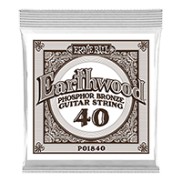 .040  Cuerda Guitarra Acústica Earthwood Phosphor Bronze. Pack de 6 Thumb