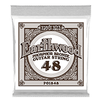 .048 Earthwood Phosphor Bronze Acoustic Guitar Strings 6 Pack Thumb