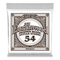 .054 Earthwood Phosphor Bronze Acoustic Guitar Strings 6 Pack Thumb