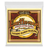 Earthwood 5-String Banjo Frailing Loop End 80/20 Bronze Acoustic Guitar Strings - 10-24 Gauge Thumb