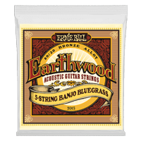 Earthwood 5-String Banjo Bluegrass Loop End 80/20 Bronze Banjosaiten Thumb