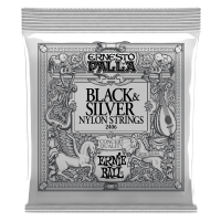 Ernesto Palla Black & Silver Nylon Classical Guitar Strings Thumb