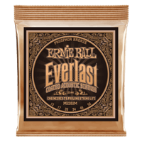 Everlast Medium Coated Phosphor Bronze Acoustic Guitar Strings - 13-56 Gauge Thumb