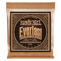 Everlast Light Coated Phosphor Bronze Acoustic Guitar Strings - 11-52 Gauge Thumb