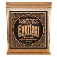 Everlast Extra Light Coated Phosphor Bronze Acoustic Guitar Strings - 10-50 Gauge Thumb