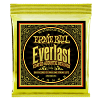Everlast Medium Coated 80/20 Bronze Acoustic Guitar Strings - 13-56 Gauge Thumb