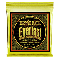 Everlast Medium Light Coated 80/20 Bronze Acoustic Guitar Strings - 12-54 Gauge Thumb
