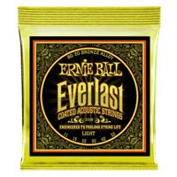 Everlast Light Coated 80/20 Bronze Cordes pour Guitare Folk Thumb