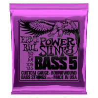 Power Slinky 5-String Nickel Wound Electric Bass Strings - 50-135 Gauge Thumb