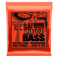 Slinky Long Scale 6-String Nickel Wound Electric Bass Strings - 32-130 Gauge Thumb