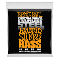 Hybrid Slinky Stainless Steel Electric Bass Strings - 45-105 Gauge Thumb