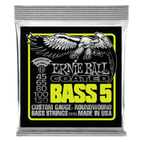 Bass 5 Slinky Coated Electric Bass Strings - 45-130 Gauge Thumb